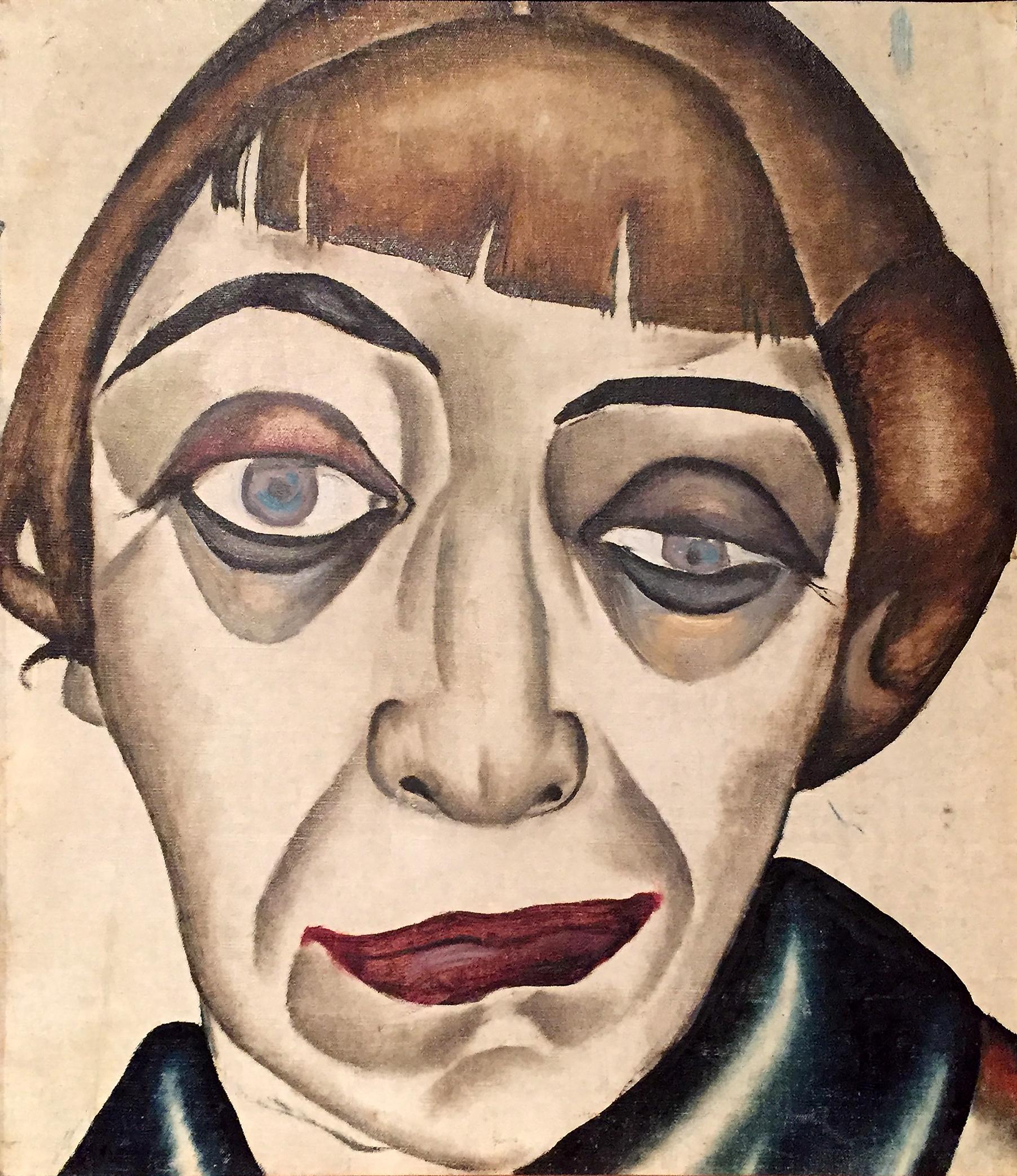 Alexander Deineka - Ritratto di donna - olio su tela (anni Venti).