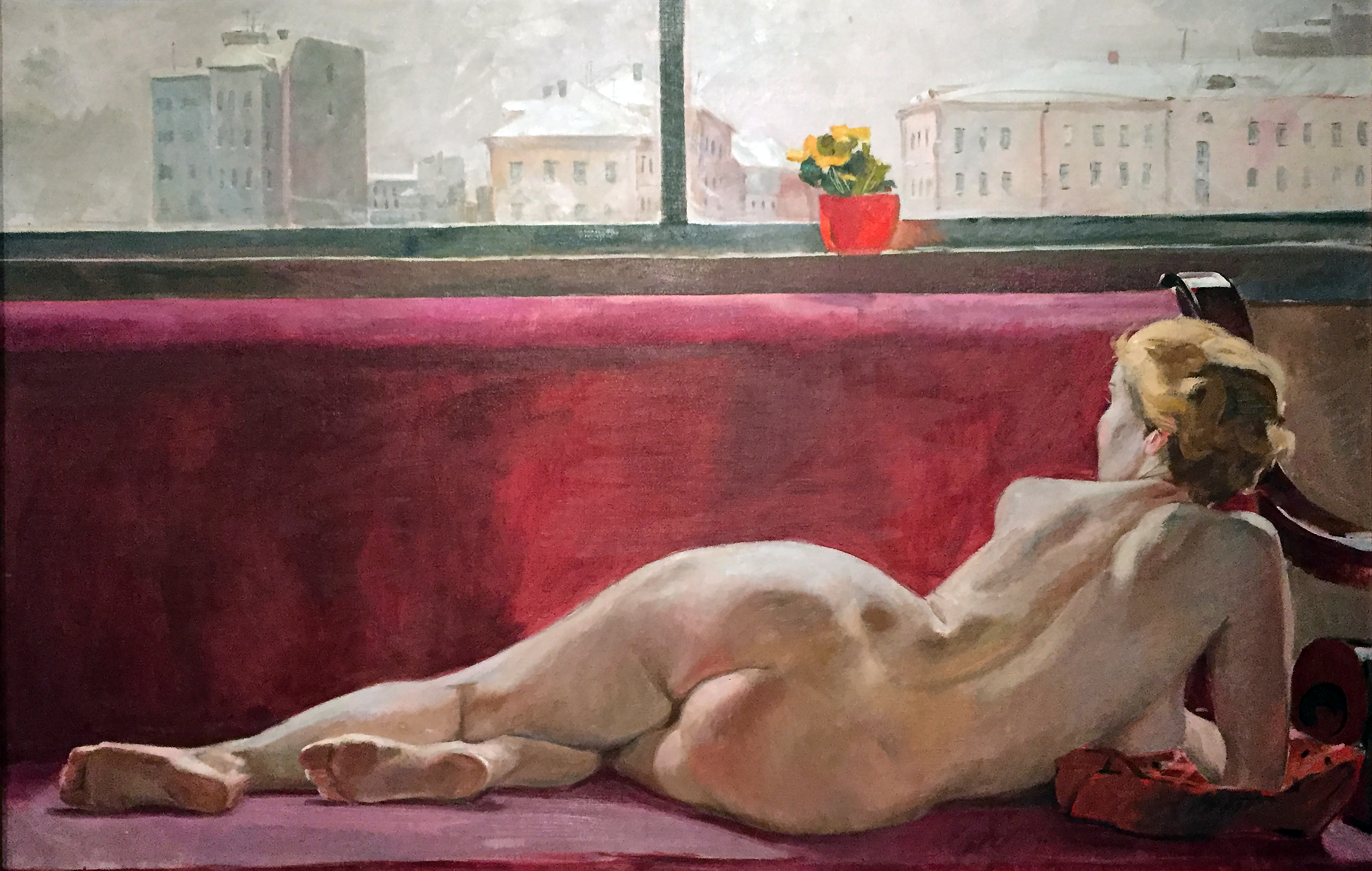 Alexander Deineka - Nudo - olio su tela (1936).