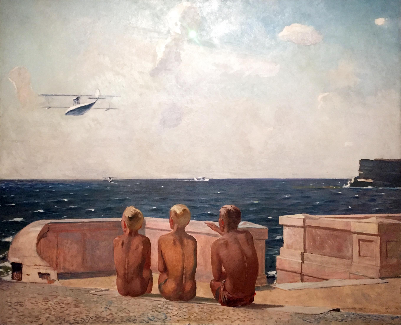 Alexander Deineka - Futuri piloti - olio su tela (1938).