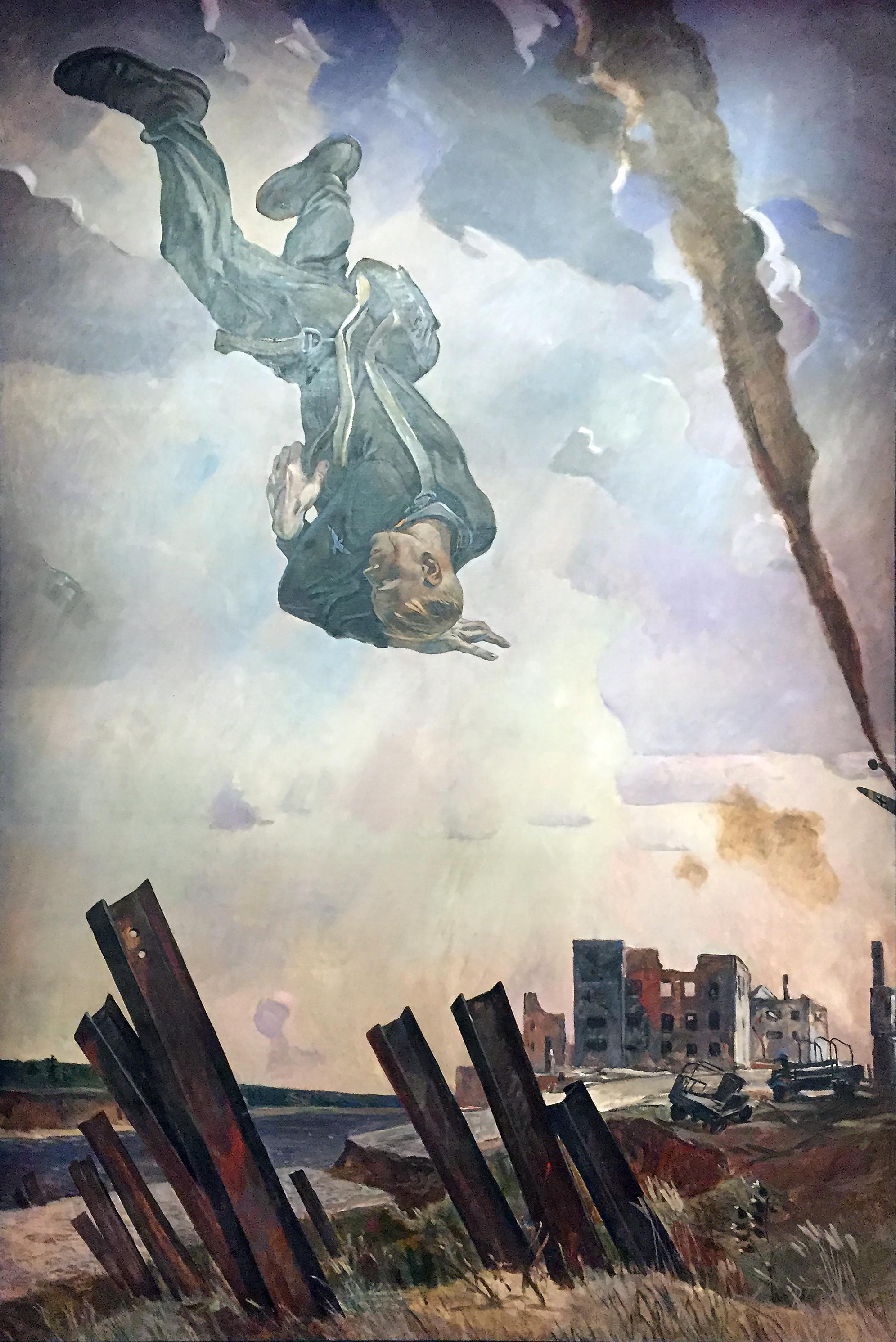 Alexander Deineka - Asso cadente - olio su tela (1943).